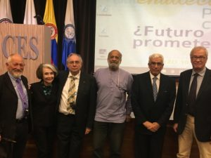 From left to right: Ole Fejerskov, Lois Cohen, Newell Johnson, Firoze Manji, Alfonso Escobar and Gunnar Dahlén at Universidad CES, Medellin, 10 March 2017